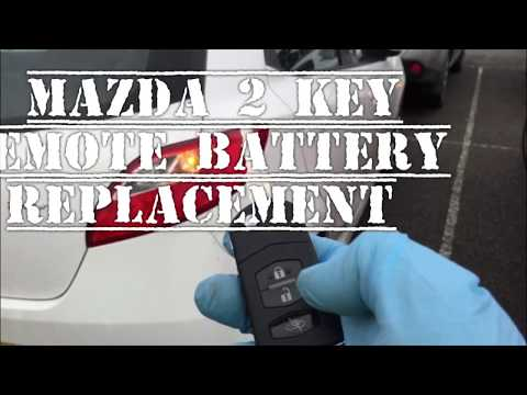 Mazda 2 Key Remote Battery Replacement, Repair also some Mazda 1, 3