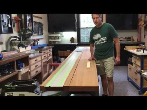 Joint Large Lumber with a Track Saw for DIY Wooden Countertop