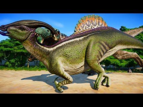 Spinosaurus & Spinoraptor Hunting In Desert Environment