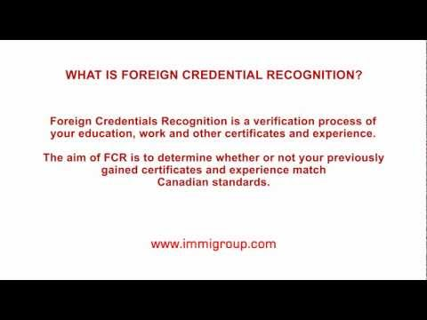 What is Foreign Credential Recognition?