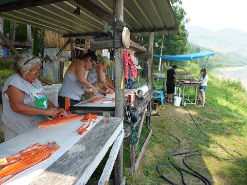 How to Make Smoked Fish Strips Yukon River Style - Stan Zuray