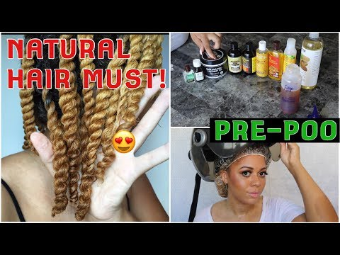 BEST Pre-Poo Routine For Natural Hair | MOISTURE RETENTION & HAIR GROWTH | ALL Textures