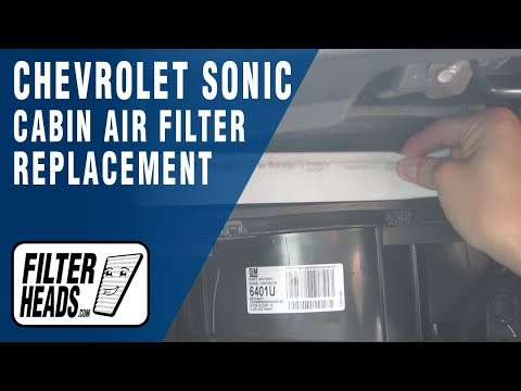 How to Replace Cabin Air Filter Chevrolet Sonic