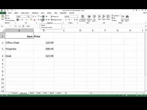 How to Align Cells in Excel 2013