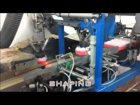 Cut , shape and packaging Line  bath sponges , BUI GSG Bologna ITALY