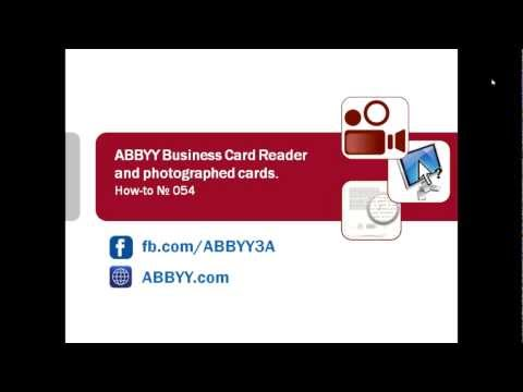 How-to No. 54 — ABBYY Business Card Reader and photographed cards.