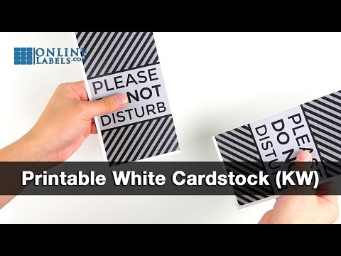 Printable Cardstock - See Features and Uses