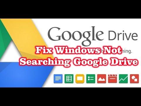 Fix Windows Cannot Search the Google Drive Folder