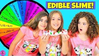 Mystery Wheel of Edible Slime Challenge!!