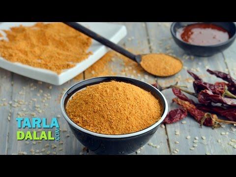Milagai Podi, Malgapodi Powder, South Indian Gun Powder Recipe by Tarla Dalal