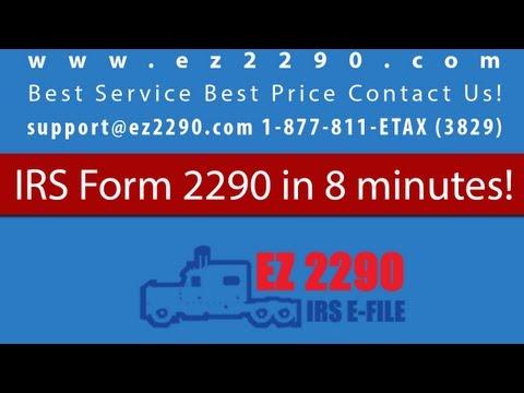 IRS 2290 Tax Form EZ2290.com Tutorial