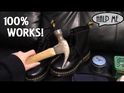 Break in Doc Martens with a Hammer!