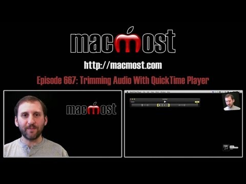 Trimming Audio With QuickTime Player (MacMost Now 667)