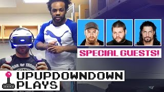 CESARO plays THE LONDON HEIST VR feat. KEVIN OWENS, ROMAN REIGNS & SAMI ZAYN — UpUpDownDown Plays