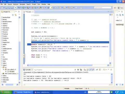 Aprender programacion Java para novatos #2 : Declarar Variables básicas int , double y char