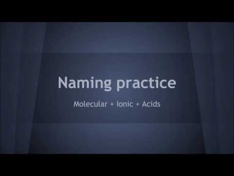 Naming practice flashcards   ionic, molecular and acids