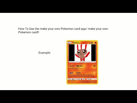 DIY Simple way to Make Your Own Pokemon Card (you can also print it) (Samsung Tutorial).