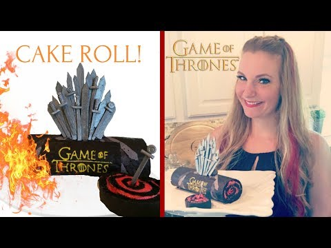 GAME OF THRONES 'THE IRON THRONE' CAKE ROLL!-MISS TRENDY TREATS