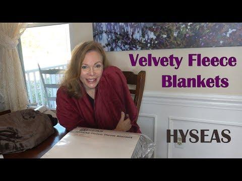 🌼 HYSEAS VELVET PLUSH FLEECE BLANKETS (King Twin Queen Throw) Review  👈
