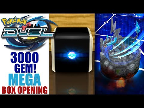 POKEMON DUEL: MEGA CHARIZARD X UX GAMEPLAY 3000 GEM MEGA BOOSTER BOX OPENING 2