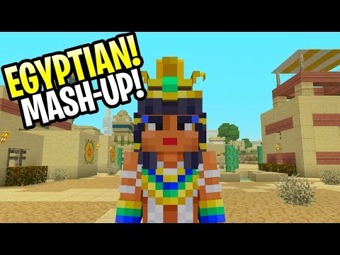 Minecraft New Egyptian Mythology Mash-Up! All Skins Review/ Showcase PS4, Xbox One & Switch