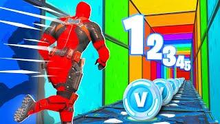 1 NIVEAU = 2000 V-BUCKS avec PINK ! Deathrun CHALLENGE Fortnite