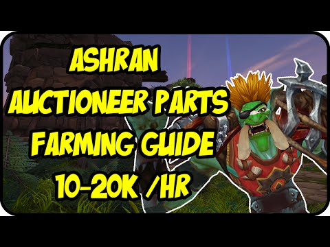 WoW Gold Farming Patch 6.2.4: Ashran Gold Making - Trading Post Auctioneer Parts Gold Farming Guide