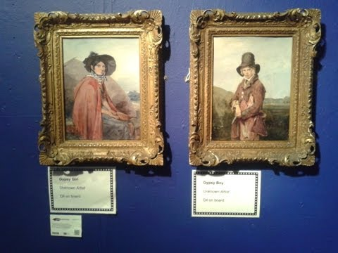 Paintings from the Museum's Art Gallery, Mansfield, Nottinghamshire, UK