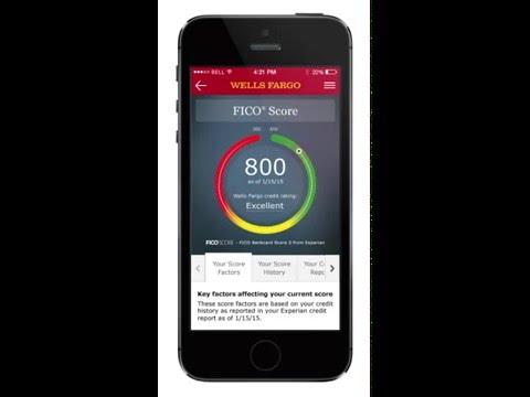 Wells Fargo FICO Score — Mobile Experience