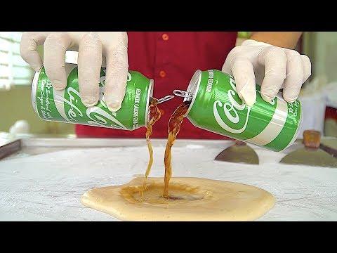 New!! Coke Life Ice Cream Rolls