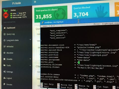 How to change and configure the Pi-hole default web admin port url 80