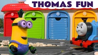 Explore Colors with Surprise Eggs Minions and Thomas The Tank Engine at Tayo Garage Paw Patrol TT4U