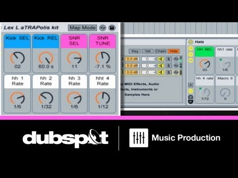 Ableton Tutorial: Trap Music Patterns - How to Build an Instrument Rack for Drum Programming Pt 2