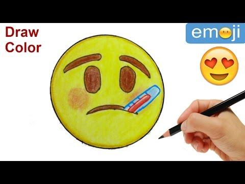 How to Draw Emoji. Sick Emoji Step by Step Easy