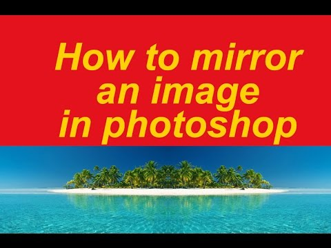 How to mirror an image in photoshop