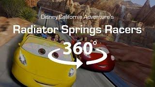 4K 360 Virtual Reality Roller Coaster: Radiator Springs Racers - VR 360 Video (POV)