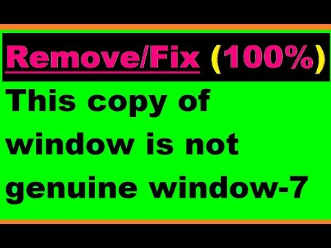 Fix-(100%) This copy of Window is Not Genuine MessageOr Notification