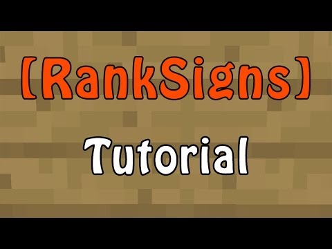 Minecraft Plugin - RankSigns - Signs that sell ranks!
