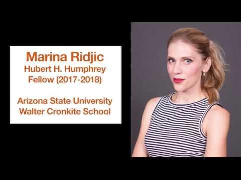 Marina Ridic, 2017-2018 BiH Humphrey Fellow at Arizona State University