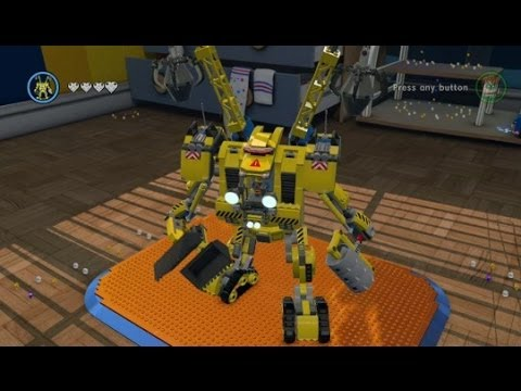 LEGO Movie Videogame - Golden Instruction Build #13 - Emmet's Mech Showcase