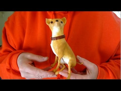 Paper Mache Chihuahua - Painting and Varnishing