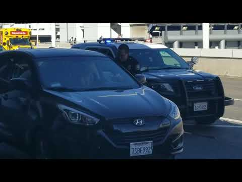 Lax PD traffic stop at Los Angeles International Airport