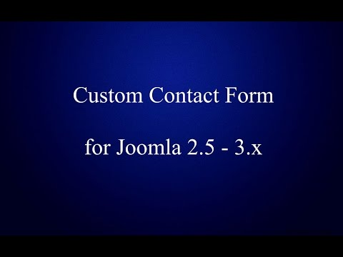 Simple and Beautiful Custom Contact Form for Joomla 2.5 - 3.x!