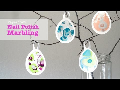 How to Marble Nail Polish on Paper Marbling