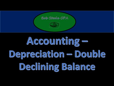 1000.30 Calculating Depreciation Double Declining Balance, how to calculate-Accounting, Financial