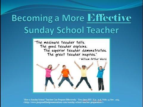 Becoming a More Effective Sunday School Teacher