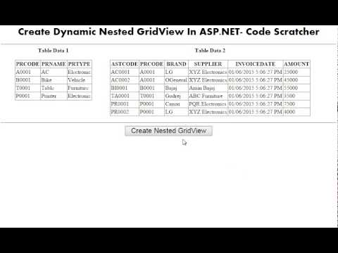 Expand Collapse Nested Gridview in ASP.NET