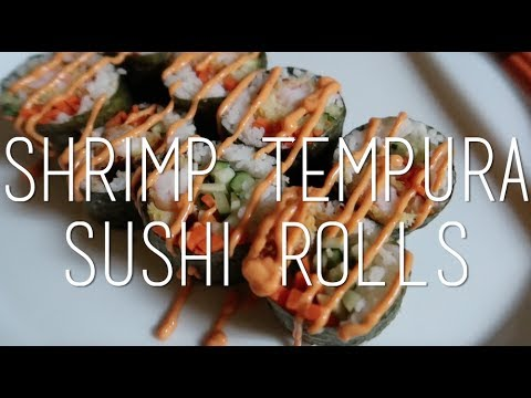 Shrimp Tempura Sushi Rolls w/Spicy Mayo