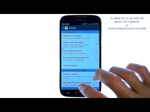 Samsung Galaxy S4 - How Do I Add a Callback Number to my Text Messages