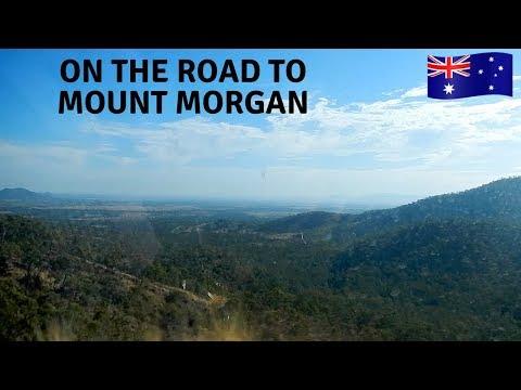 Driving to Mount Morgan   regional Queensland, Australia